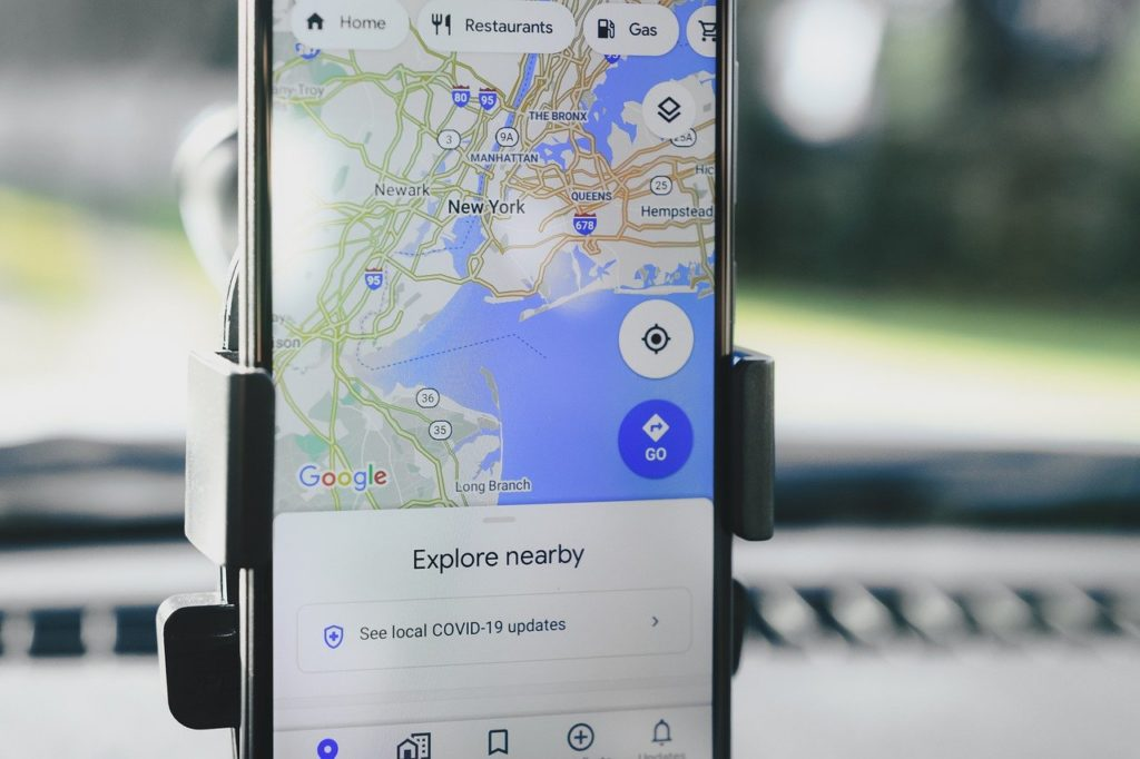 google-map-on-mobile-device